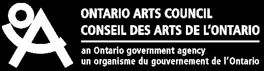 Logo: Ontario Arts Council (an Ontario government agency)